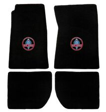 NEW 1965-1973 Ford Mustang SHELBY GT350 Black Floor mats & Logo Set of 4 Carpet