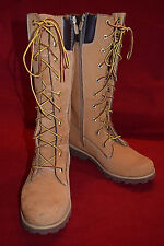 TIMBERLAND EARTHKEEPERS PREMIUM 14 INCH ZIP WHEAT WOMENS BOOTS SIZE 4.5 83980