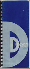 DUCATI 750 SERVICE WORKSHOP MANUAL / REPRINT