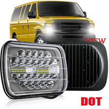 186W 7x6'' LED Headlight Hi-Lo Sealed Projector Beam For Jeep Cherokee XJ YJ
