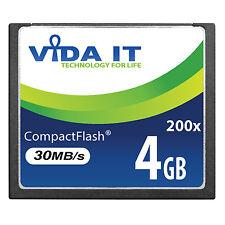 High Speed 4GB Vida IT CF Compact Flash Memory Card 200x 30MB/s for Camera
