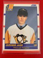 NHL JAROMIR JAGR Penguins 1990 Score Trading #428 CARD