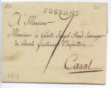 Prefilatelica prephilatelic 1819 da Fossano per Casale