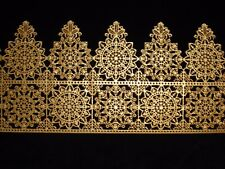 decorative GOLD edible cake lace