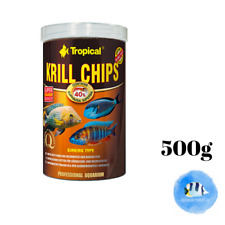 TROPICAL Krill Chips 500g Carnivores Freshwater Saltwater Marine Fish Food
