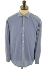 DKNY Herren Hemd Größe 16 Large blau Baumwolle Slim Fit