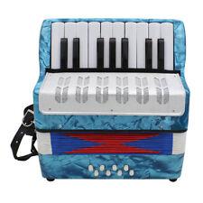 Instrument de clavier à accordéon pour piano, 17 touches, pour bleu clair