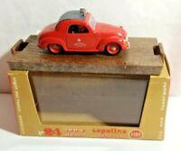 BRUMM 1:43 SCALE 1949-1955 FIAT 500C TOPOLINO HP 16.5 FIRE SERVICE - R24 - BOXED