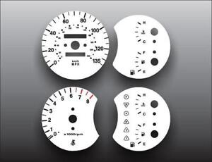 White Face Gauges Fits 2000-2001 Kia Spectra Dash Instrument Cluster