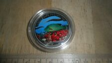 PALAU 2003 $1 COIN - MERMAID - PARROT FISH - MARINE LIFE COLORIZED OBV