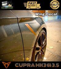 Eaziwrap Leon MK3 & 3.5 Cupra APR Style Wing Decal Sticker COPPER / BLACK