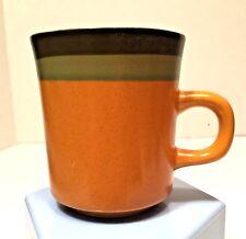 Vtg Arrow Stone Mug Cup Cherokee Red Tan Brown Showa Japan Stoneware Kasuga