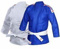 Adidas Judo Suit Kids GI J250 Free White Belt Childrens Boys Girls Suit Uniform
