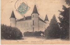 TINTURY 95 château de grond cliché havoué timbrée 1905