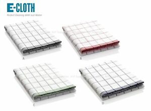 E-cloth Checked Tea Towels 100% Cotton Kitchen Cloths Cleaning Drying Cloths