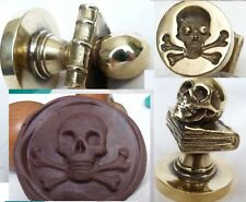 Wax Seal masonic Skull on the Bible MEMENTO MORI stamp brass