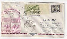 1947 Boston MA FAM 27 Airmail FFC to Bombay India