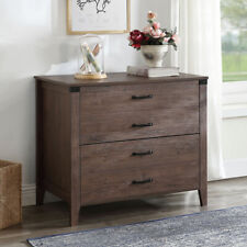 Home office Lateral File Cabinet with Two Drawers,Large Modern Wood File Cabinet