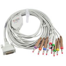 ECG Cable ECG Lead for Contec ECG Machine ECG/EKG Electrocardiograph,twelve lead