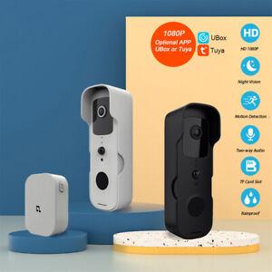 1080P Video Wireless WiFi Doorbell Smart Door Bell Ring Intercom Camera Security
