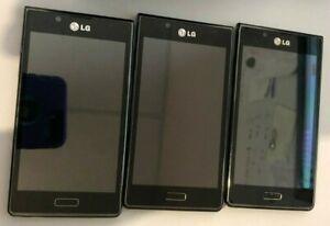 Lot of 3 LG Splendor US730 Black (U.S. Cellular) Smartphone Parts Repair