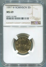 1997 W Jackie Robinson Gold $5. NGC MS69