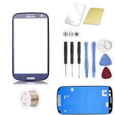 Samsung Galaxy S3 i9300 i9305 LTE Blau Blue Glas Scheibe Front TOUCHSCREEN