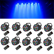 10PCS 36W RGB 12 LED Par Stage Lighting DMX Bar Disco Party DJ Light Controllers