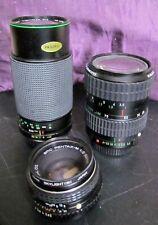 3 Pentax K Mount Lenses 50mm F2, 28 -80 F3.5 Zoom 80 -200 F4.5 Zoom as a bundle