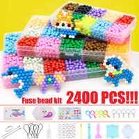 EHO Fuse Beads Kit for Kids Crafts 7800 Colored Fuse Beads with Ironing Paper for DIY Making Art Sets Christmas Birthday Gift for Children