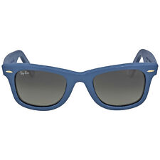 Ray Ban Wayfarer Blue Leather Sunglasses