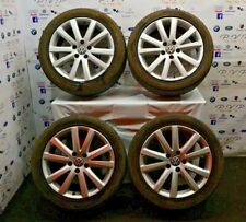 VW VOLKSWAGEN EOS GOLF SCIROCCO 1F 1.4L TSI FULL SET OF ALLOY WHEELS 235/45ZR17