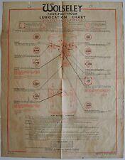 Wolseley Four-Fortyfour 4/44 original Castrol Lubrication Chart 1953-1955