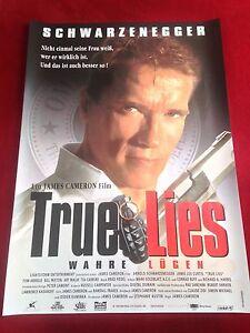 True Lies Kinoplakat Poster A1, Arnold Schwarzenegger, Jamie Lee Curtis