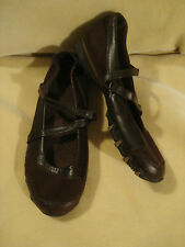 Women's Skechers Brown Leather Flats Size 7 1/2 M