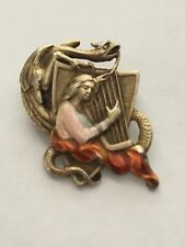 Proteus 1909 Mardi Gras Krewe of Proteus Romances Of Wales favor pin