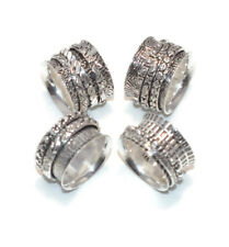 New !! Precious 10 Pieces Silver Plated Trendy Elegant Austrian 925 Ring Jewelry