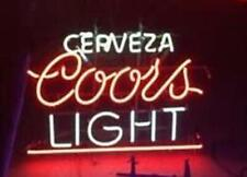 "New Cerveza Coors Light Neon Light Sign 24""x20"" Lamp Poster Real Glass Beer Bar"