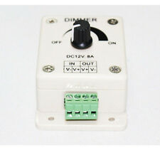 DC 12-24V 8A Adjustable Brightness Light Switch Dimmer Controller for Led Strip