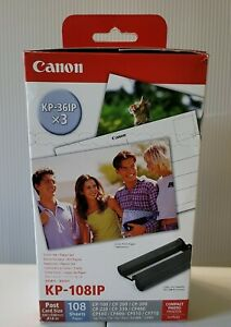 """Canon KP-108IP (3) KP-36IP Color Ink Cartridges with 4""""x6"""" Post Cards Brand New"""