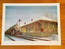 "VINTAGE REPRODUCTION ART PRINT BY J. ROBERT BURNELL ""HOLLAND RAILROAD STATION"""