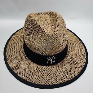 MLB New Era New York Yankees Spring Training Shaded Straw Hat Baseball