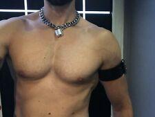 Halskette Kette + Schloss Halsband Slave Bondage PARUS leather gay Muscle NEU
