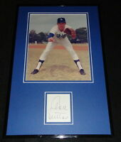 Don Sutton Signed Framed 11x17 Photo Display Dodgers Braves Angels