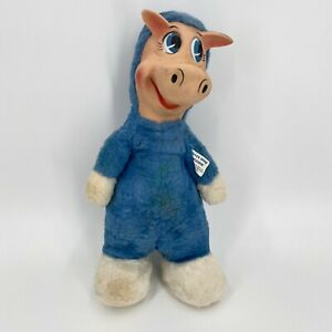 "1959 Quick Draw McGraw Rubber Face Plush Doll KNICKERBOKER TOY 16"" Hanna Barbera"