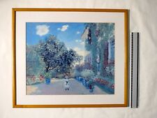 """Framed Print Claude Monet """"The Artists House at Argenteuil,""""."""