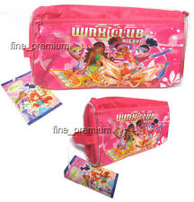 Winx Club Stationery Pencil case Girls Zipper Bag Pouch Pink H
