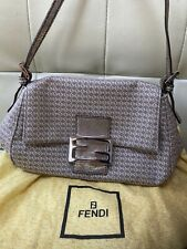 Fendi Metallic Small Baguette FF Logo Flap Bag