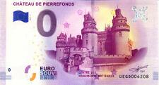 60 PIERREFONDS Château, 2019, Billet 0 € Souvenir
