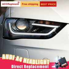 2Pcs For Audi A4 Headlights assembly Bi-xenon Lens Projector LED DRL 2013-2016